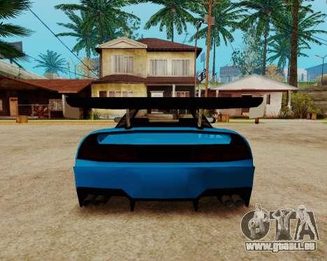 Infernus Lamborghini pour GTA San Andreas vue intérieure