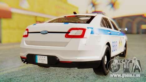 Ford Taurus Iraq Police v2 pour GTA San Andreas sur la vue arrière gauche