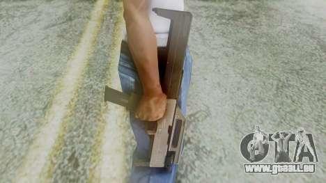 FMG-9 from Modern Warfare 3 pour GTA San Andreas troisième écran