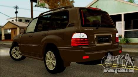 Toyota Land Cruiser Cygnus pour GTA San Andreas laissé vue