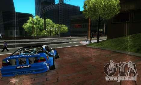 BMW M3 E46 ToyoTires GT-SHOP pour GTA San Andreas vue arrière