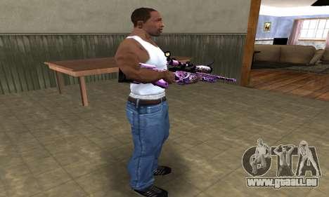 Neon Sniper Rifle pour GTA San Andreas troisième écran