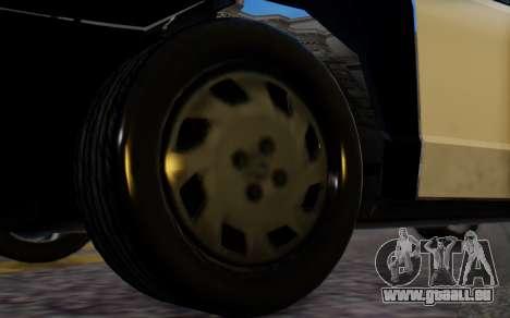 Ford Crown Victoria LSPD pour GTA San Andreas sur la vue arrière gauche