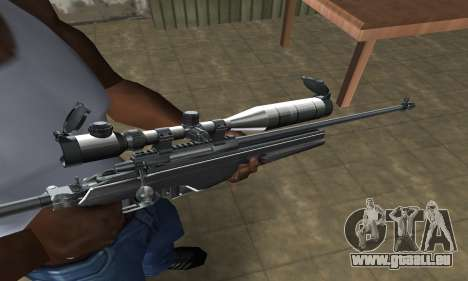 Full Silver Sniper Rifle für GTA San Andreas zweiten Screenshot