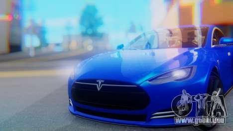 Tesla Model S pour GTA San Andreas vue arrière