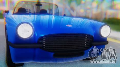 Invetero Coquette BlackFin v2 SA Plate pour GTA San Andreas vue arrière