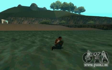Zu Fuß auf dem Wasser für GTA San Andreas dritten Screenshot
