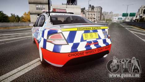 Ford Falcon FG XR6 Turbo Highway Patrol [ELS] für GTA 4 hinten links Ansicht
