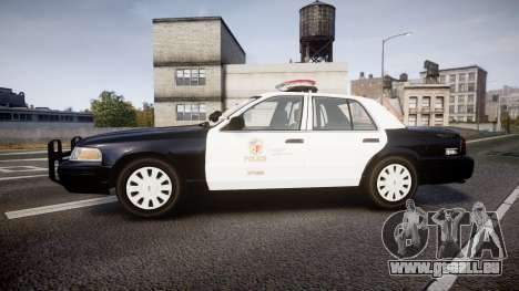 Ford Crown Victoria 2011 LAPD [ELS] rims1 für GTA 4 linke Ansicht