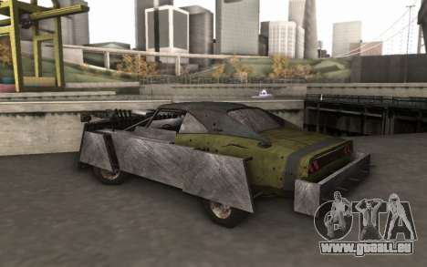 Dodge Charger Infernal Bulldozer pour GTA San Andreas sur la vue arrière gauche