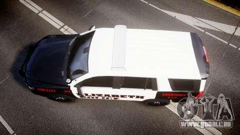 Chevrolet Tahoe 2015 Elizabeth Police [ELS] für GTA 4 rechte Ansicht