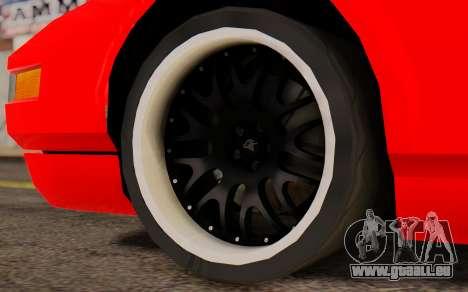 Infernus Hamann Edition New Wheels pour GTA San Andreas sur la vue arrière gauche