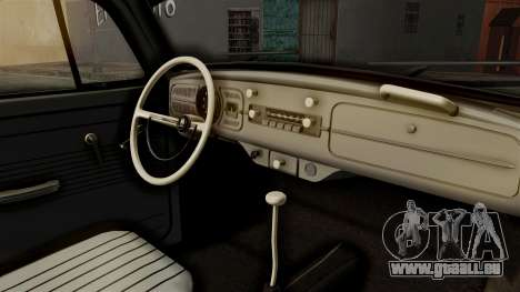 Volkswagen Beetle 1963 Policia Federal pour GTA San Andreas vue arrière
