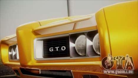 Pontiac GTO 1968 pour GTA San Andreas vue de droite