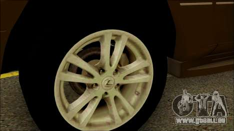 Toyota Land Cruiser Cygnus pour GTA San Andreas vue de droite