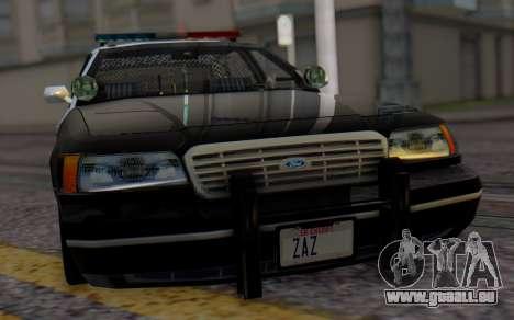 Ford Crown Victoria LSPD pour GTA San Andreas vue arrière