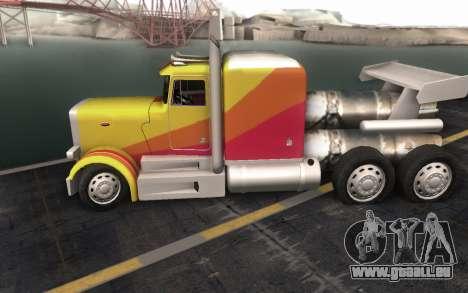 ShockWave Jet Truck pour GTA San Andreas vue arrière