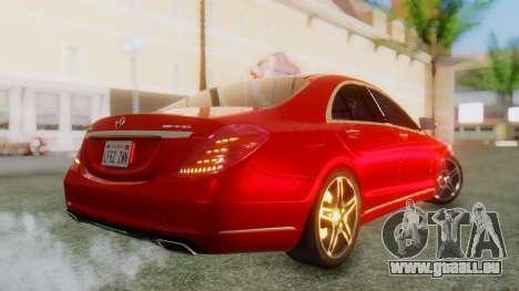 Mercedes-Benz S63 W222 AMG pour GTA San Andreas laissé vue