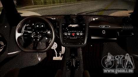 Pagani Zonda Cinque 2009 Autovista für GTA San Andreas rechten Ansicht