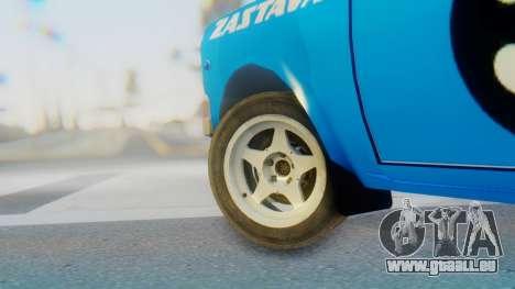 Zastava 1100P Rally pour GTA San Andreas sur la vue arrière gauche