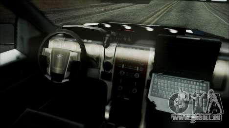 Ford Pickup Policia Federal für GTA San Andreas rechten Ansicht