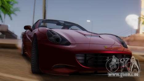 Ferrari California v2.0 für GTA San Andreas zurück linke Ansicht