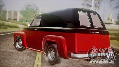 GTA 5 Vapid Slamvan IVF pour GTA San Andreas laissé vue