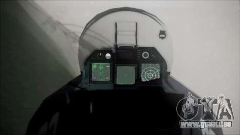 SU-47 Berkut Grabacr Ace Combat 5 für GTA San Andreas rechten Ansicht