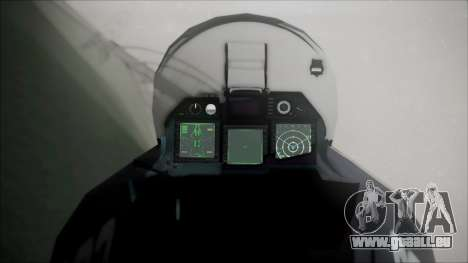 SU-47 Berkut Grabacr Ace Combat 5 pour GTA San Andreas vue de droite