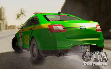 Ford Taurus Iraq Police pour GTA San Andreas laissé vue