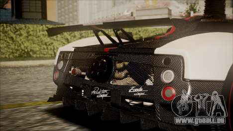 Pagani Zonda Cinque 2009 Autovista für GTA San Andreas Rückansicht