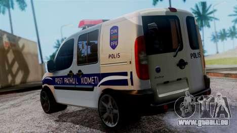 Fiat Doblo PPX pour GTA San Andreas laissé vue