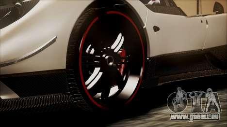Pagani Zonda Cinque 2009 Autovista für GTA San Andreas zurück linke Ansicht