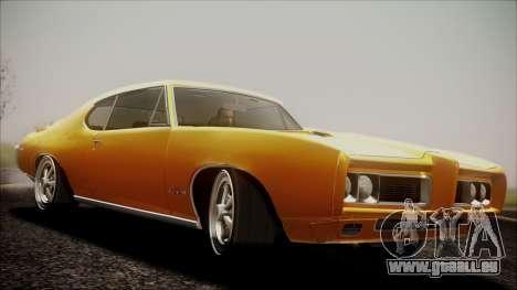 Pontiac GTO 1968 pour GTA San Andreas sur la vue arrière gauche