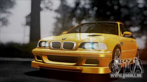 BMW M3 GTR Street Edition pour GTA San Andreas salon