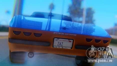 Invetero Coquette BlackFin v2 SA Plate pour GTA San Andreas vue intérieure
