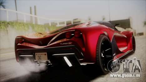 GTA 5 Grotti Turismo R IVF pour GTA San Andreas laissé vue