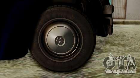 Volkswagen Beetle 1963 Policia Federal pour GTA San Andreas sur la vue arrière gauche