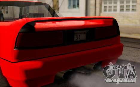 Infernus Hamann Edition New Wheels pour GTA San Andreas vue de droite