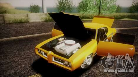 Pontiac GTO 1968 pour GTA San Andreas vue intérieure
