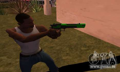 Deagle Green Style pour GTA San Andreas