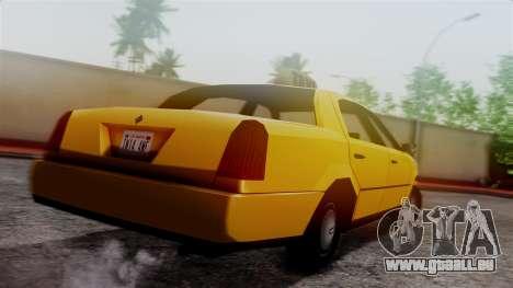 Washington Taxi pour GTA San Andreas laissé vue
