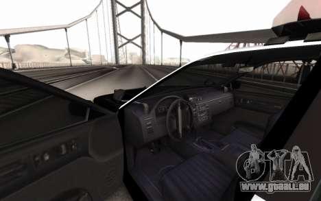 GTA 5 Stanier Police pour GTA San Andreas sur la vue arrière gauche
