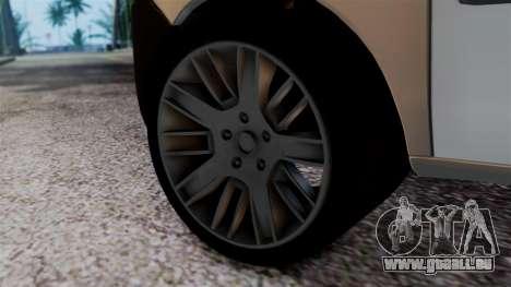 Fiat Doblo PPX pour GTA San Andreas sur la vue arrière gauche