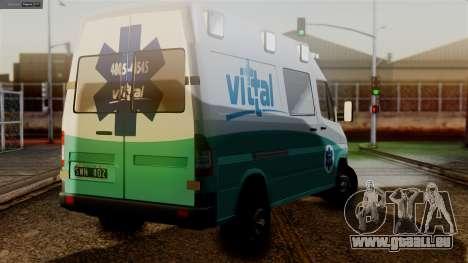 Mercedes-Benz Sprinter Ambulance Vittal pour GTA San Andreas laissé vue