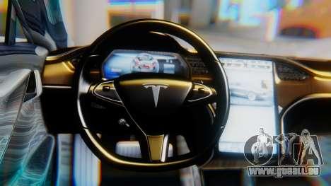 Tesla Model S pour GTA San Andreas vue de droite