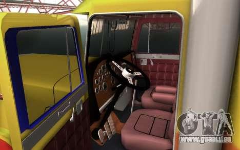 ShockWave Jet Truck pour GTA San Andreas sur la vue arrière gauche