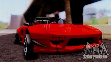Honda NSX pour GTA San Andreas vue arrière