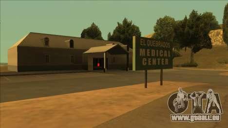 HP micros près des hôpitaux dans l'état pour GTA San Andreas quatrième écran