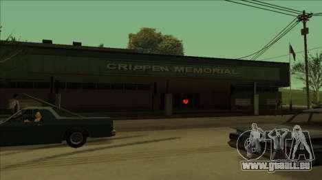 HP micros près des hôpitaux dans l'état pour GTA San Andreas septième écran